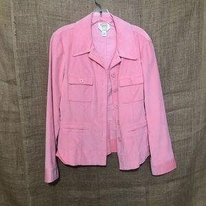 Talbots SZ 10 Velvet Pink Jacket Casual Cozy Warm